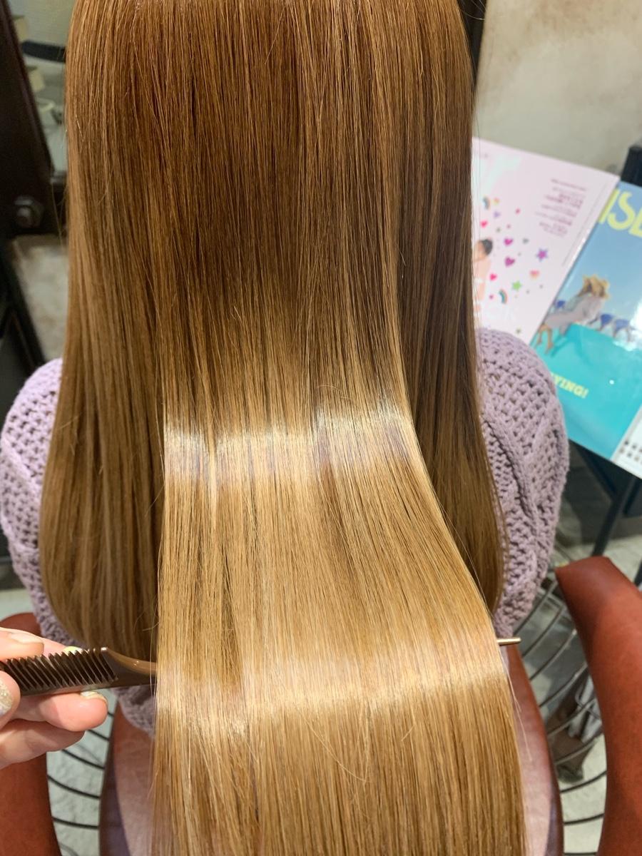 ブリーチ、ハイライトをしてる髪でもできる髪質改善!酸熱トリートメント!縮毛矯正を辞めていきたい方にもオススメです!