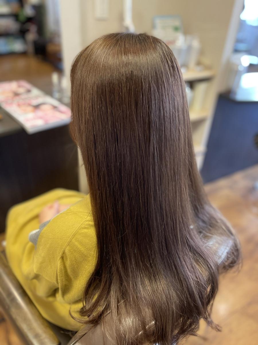 VIRTUEの縮毛矯正なら綺麗に伸ばせる、サラ艶ロングヘアーに!